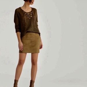NWT Ralph Lauren Polo Brown Suede Skirt Sz 4